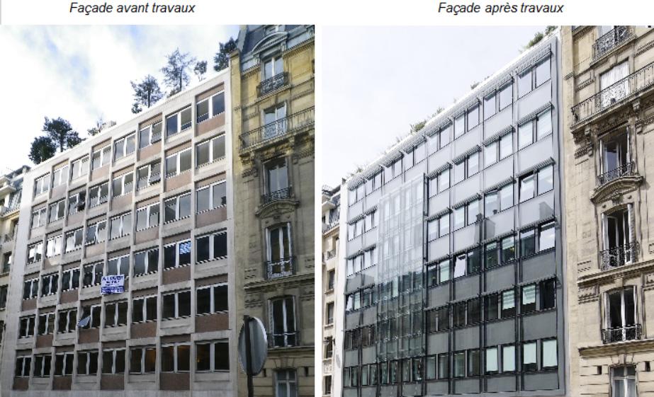 Rue de t h ran r novation nerg tique d un immeuble de bureaux en copropri t paris 8e soferim - Assurer un immeuble en copropriete ...